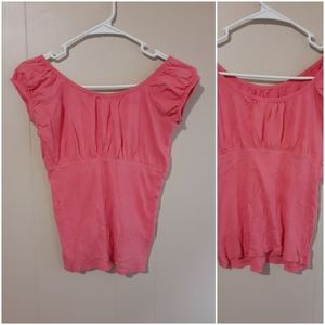 Energie Pink salmon short sleeve comfy top small